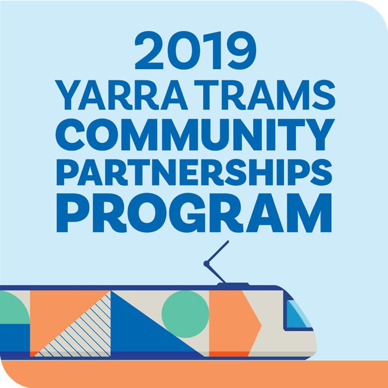 Yarra Trams 2019 Community Partnerships Program logo